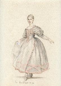 Capriccio - Interpretazione - Bozzetto Costume Ballerina